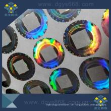 Transparente Fenster Laseraufkleber Label