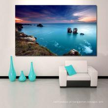 Pintura grande para a pintura da lona do cenário da sala de visitas / mar / impressão da lona da paisagem do mar