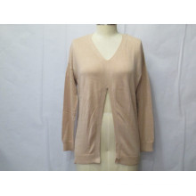 ODM Pure Color Cardigan Mujer Suéter