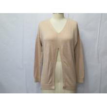 ODM Чистый цвет кардиган женщин свитер
