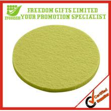 Coaster verde Eco-Amigável de feltro de lãs