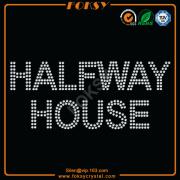 Halfway House rhinestone wholesale iron ons