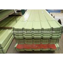 Tuile de toit ondulée enduite colorée de feuille de PPGI