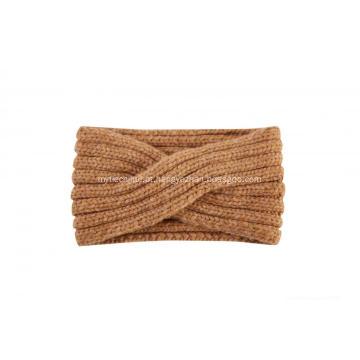 Lenço feminino tricotado com cordão infinito quente
