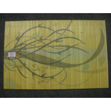 (BC-M1027) Handmade Natural Bamboo Rectangle Heat Insulation Placemat