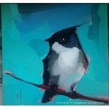 Peinture d'oiseaux noirs