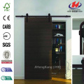 Dark Oil-Rubbed Bronze Decorative Sliding Door Hardware