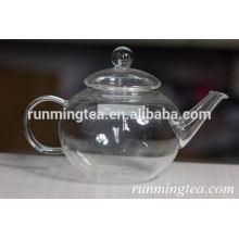 Pot de verre à base de borosilicate avec bec en acier inoxydable, 540 ml
