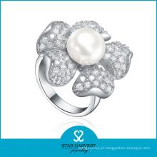 Elegante anel de prata de água doce (SH-R361)