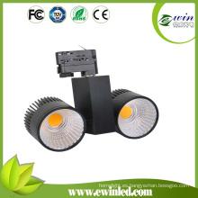 135lm / W CRI> 82 2 * 30W LED COB Tracklight con 3 Garantías