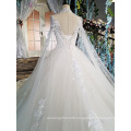 LS00169 high neck high quality lace bead women bride dresses long white wedding dress
