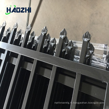 clôture horizontale de clôture en aluminium