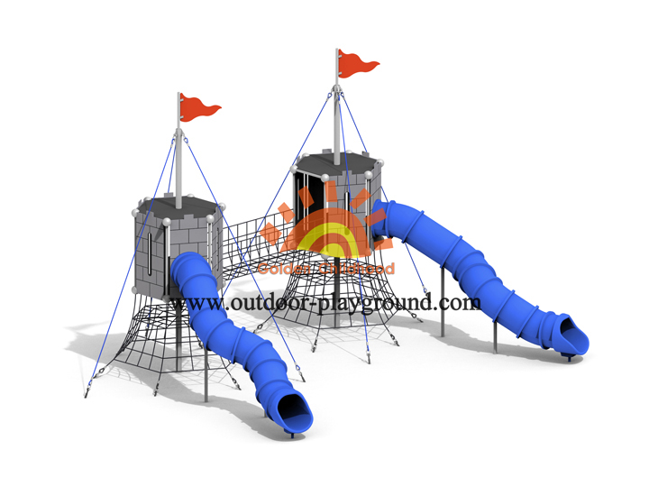Double Indoor Playground For Toddlers With Tube