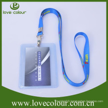 Polyester material custom lanyard with id holder