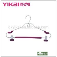Colgadores de camisa de metal acolchados de espuma EVA ligera con dos clips