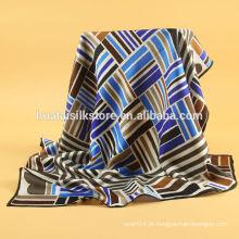 Personalizado feito rolo de mão deisgn para tela de impressão lenço de seda