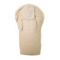 Full lambskin lining baby sleeping bag