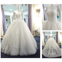 2016 New Vintage Sweetheart Aliexpress Puffy Lace Princess Gowns Tulle Ball Gown White Alibaba Wedding Dress for Bride A245