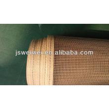 conveyor belt-jiangsu Veik PTFE coated glassfiber fabric-0.80mm thick-9090AJ-BRWON-carpet belt