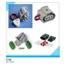 Fiche de connecteur de fil électrique étanche à 3 broches