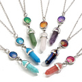 fish's scales hexagonal prism Stone Necklace