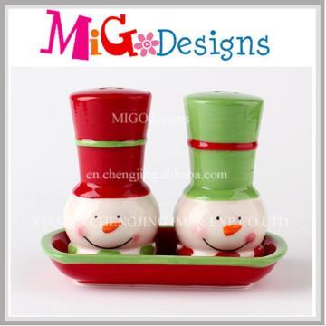 Cadeaux de Noël en gros Ensemble de réveil en céramique de sel et de poulet