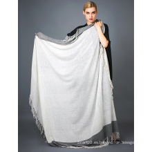 Alashan Worsted cachemira hilo tinte bufanda, suave / textura de lujo