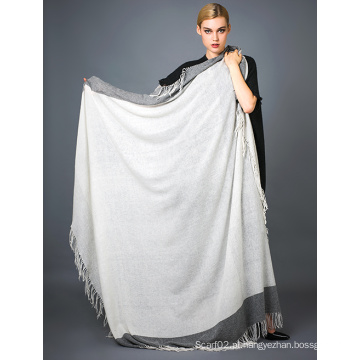 Alashan Worsted Cashmere Yarn Dye Scarf, Soft / Textura luxuosa