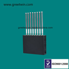 80W Cell Phone Jammer/ Mobile GPS Jammer with Eight Antenna (GW-J80)