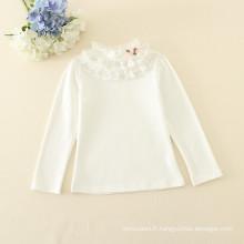 enfant une pièce maillot de corps manches longues haut pour les filles bébé rose et blanc manches longues T-shirts pour l'automne