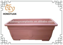 Customized plastic rectangular flowerpot made from LLDPE