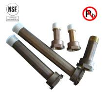 Acoplamiento de medidor de bronce sin plomo certificado NSF61