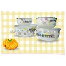 5шт эмалированную посуду для хранения комплекта с крышкой PP