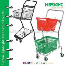 Dimensões do carrinho de compras de supermercado de plástico para crianças