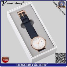Caja de reloj promocional Yxl-465 Relojes de cuero Cajas de embalaje de papel Cajas de reloj Fábrica de logotipo OEM al por mayor