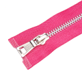 Open End Stainless Steel Metal Clothing Zipper