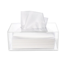 OLEG factory price customized rectangle clear plastic acrylic tissue box