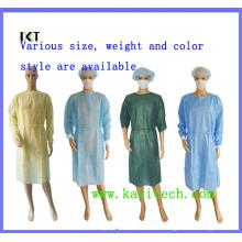 Wegwerf-SMS nicht gesponnener chirurgischer Stoff-Kleid-Lieferant Kxt-Sg09