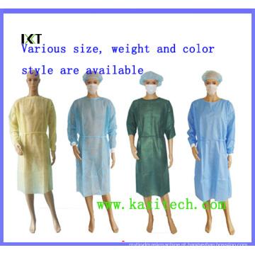 Vestido cirúrgico não tecido para vestuário médico para indústria hospitalar ou alimentar Kxt-Sg01