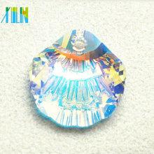 Venta caliente de concha en forma de gota colgante de joyas de cristal