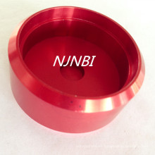 Anodizado rojo + piezas de mecanizado de aleación de aluminio