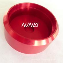 Anodisation rouge + pièces d'usinage en alliage d'aluminium