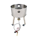 Stainless steel high pressure single burner with wheels
