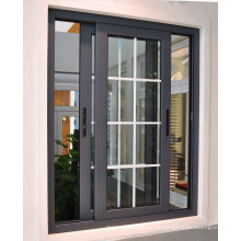 Fenêtre coulissante en aluminium avec gril