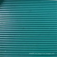 Dunkelgrünes geripptes Anti-Rutsch-Gummiblatt