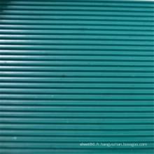 Feuille en caoutchouc antidérapante côtelée vert foncé