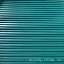 Dark Green Ribbed Anti Slip Rubber Sheet