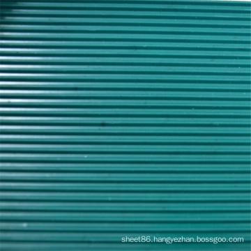 Dark Green Ribbed Anti Slip Rubber Sheet