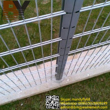 Double Welded Wire Mesh Fence Panels Twin Wire Fencing