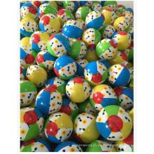 Bolas inflables de juguete de PVC de color. Pelota de playa impresa del PVC del logotipo